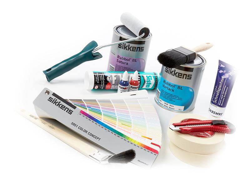 emalux produktcollage test emalux farbenfabrik. Black Bedroom Furniture Sets. Home Design Ideas